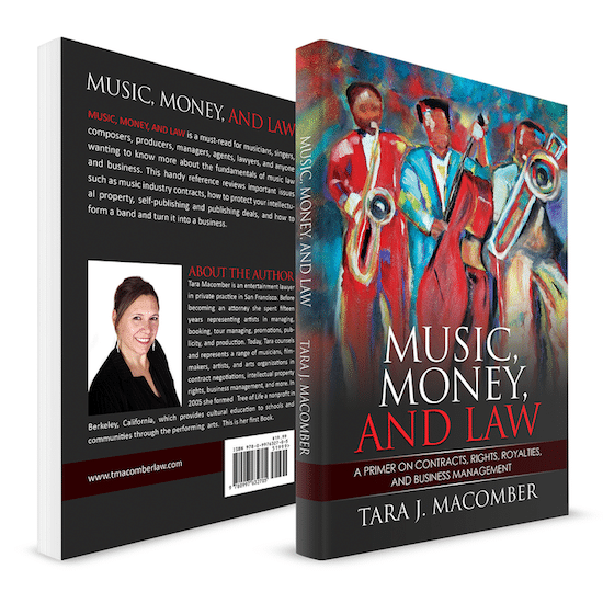 book cover for Music, Money, and Law by Tara J. Macomber