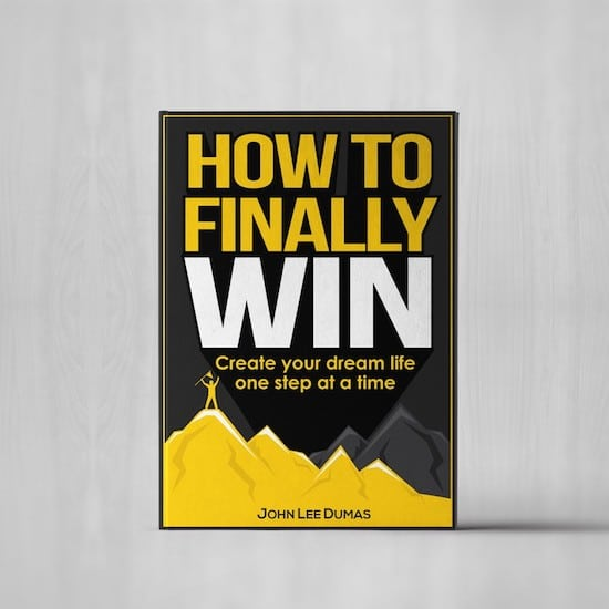 book cover for How to Finally Win by John Lee Dumas