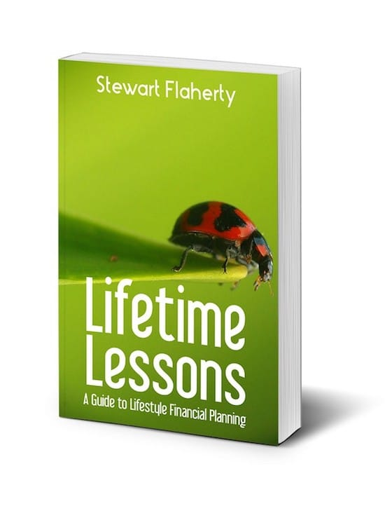 custom book cover for Lifetime Lessons by Stewart Flaherty