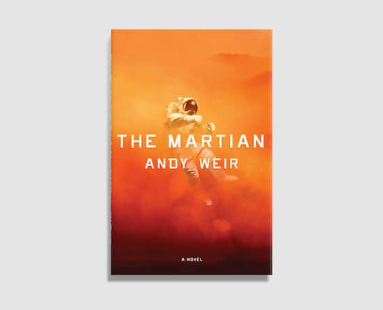 book cover for The Martian by Andy Weir - not designed on crowdspring