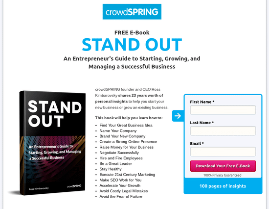 Give Your New Business A Jump Start With An Effective Landing Page Crowdspring Blog