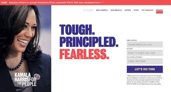 Kamala Harris Website