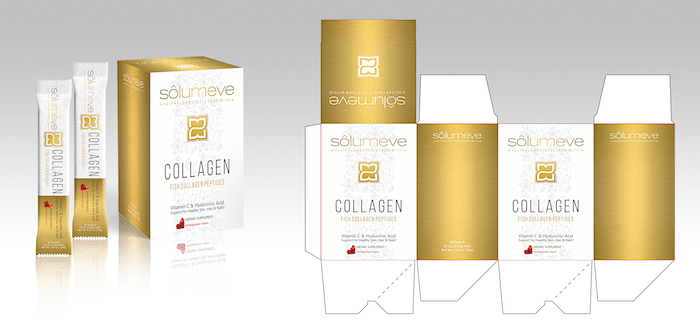 package design with a line of solumeve luxe packaging