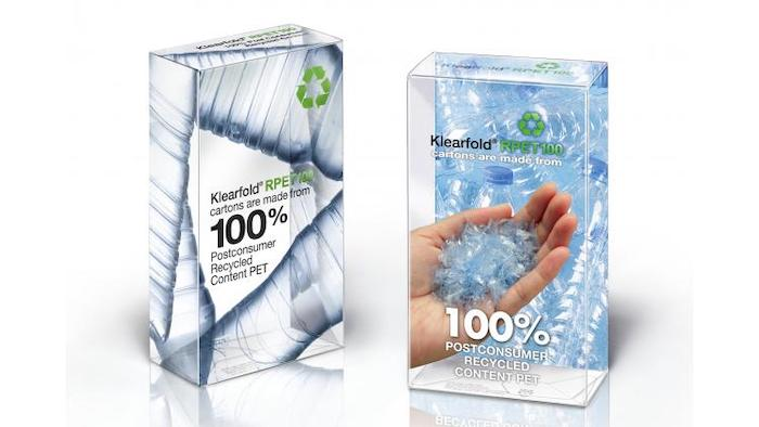 revealing package design for cartons with 100% postconsumer recycled content